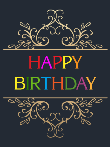 Boutique Design Happy Birthday Card