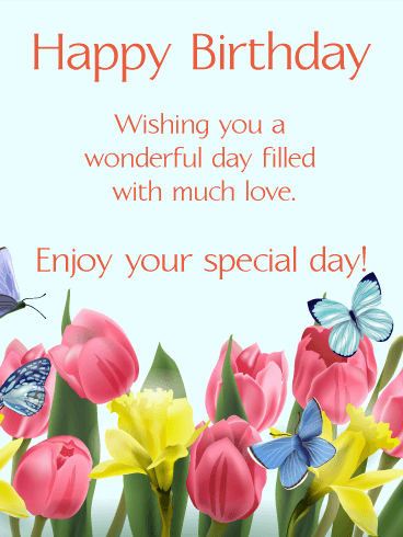 Happy Spring Birthday Card Birthday Greeting Cards by Davia