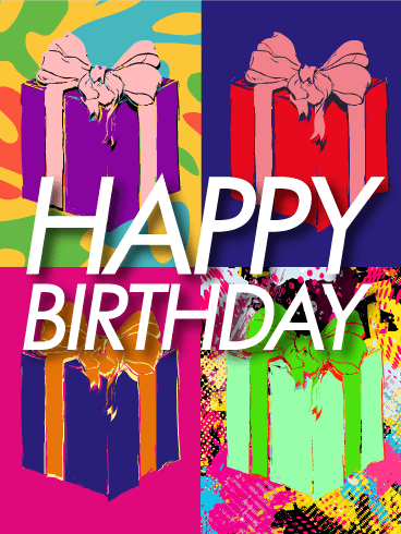 Pop Art Happy Birthday Card