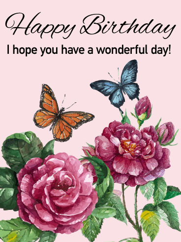 Have a wonderful day elegant happy birthday card birthday have a wonderful day elegant happy birthday card bookmarktalkfo Image collections