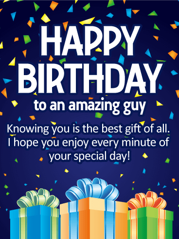 Knowing You is the Best Gift - Happy Birthday Card