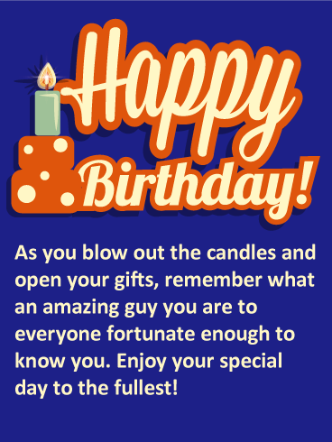 You Are an Amazing Guy - Happy Birthday Card