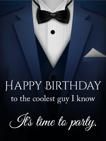 To The Coolest Guy Happy Birthday Card Birthday Greeting Cards By Davia