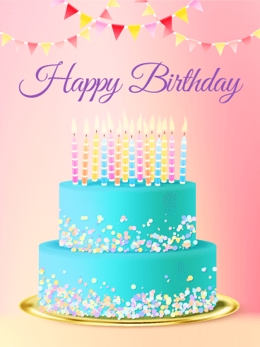 Happy Birthday Cake Images.Chic Birthday Cake Card Birthday Greeting Cards By Davia