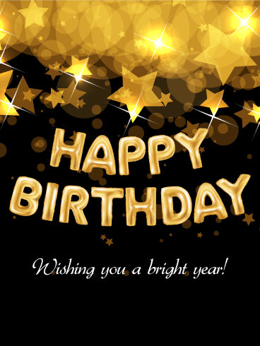 Bright Star Happy Birthday Card
