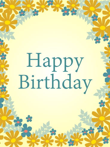Birthday Flower Frame Card
