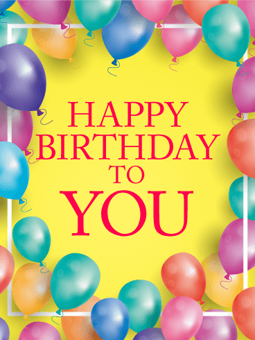 Bright Color Birthday Balloon Card