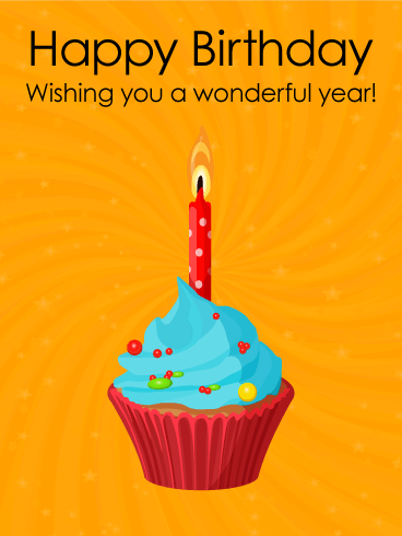 Wishing You a Wonderful Year! Happy Birthday Card