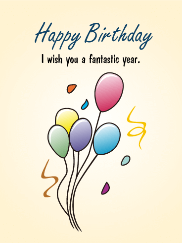 Wishing You a Fantastic Year! Birthday Card