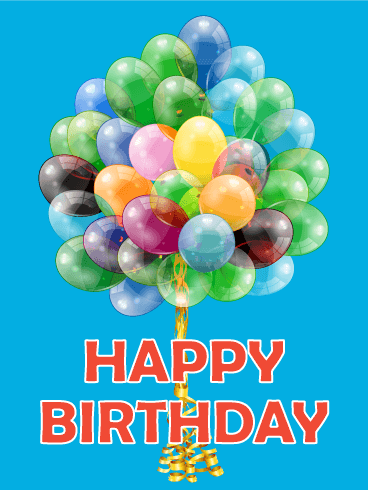 Joyful Balloon Happy Birthday Card