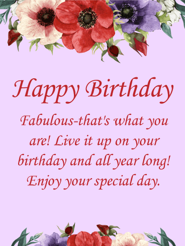You are Fabulous Happy Birthday Card Birthday Greeting Cards by