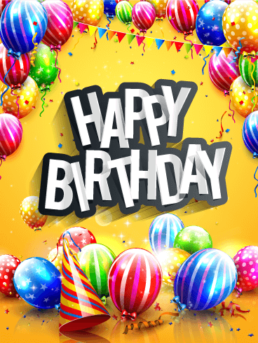 Bright & Colorful Happy Birthday Card