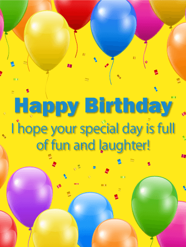 Full of Fun! Happy Birthday Card