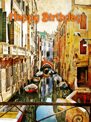 Beautiful Artwork Happy Birthday Card
