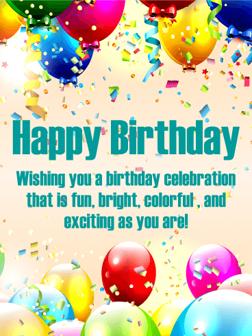 Have an Exciting Day! Happy Birthday Card