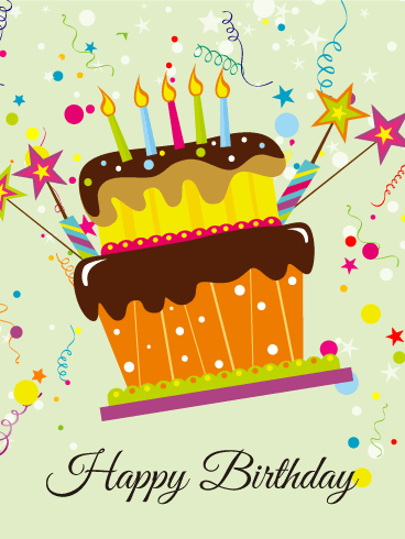 Fun! Birthday Cake Card