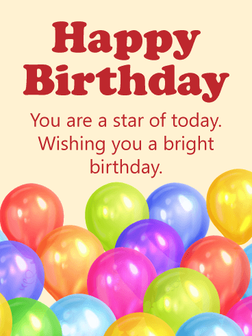 Bright Birthday Balloon Card