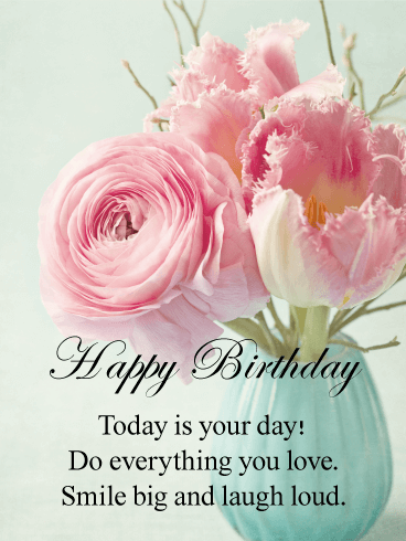 Happy Birthday Flower Cards Birthday Greeting Cards By