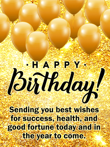 Sending You Best Wishes - Happy Birthday Card