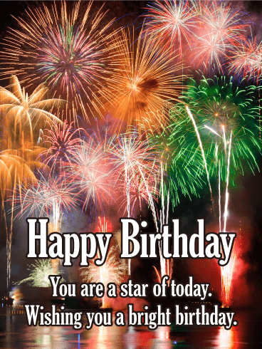 You are a Star Today! Happy Birthday Card