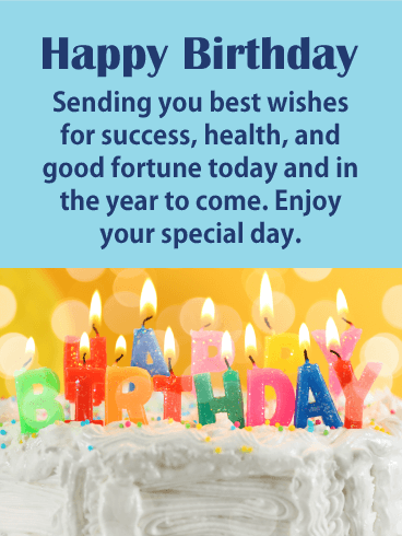 Best Wishes Happy Birthday Card