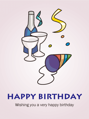 Cheers! Birthday Party Card