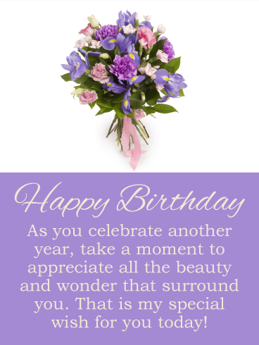 Take a Moment to Appreciate - Happy Birthday Card
