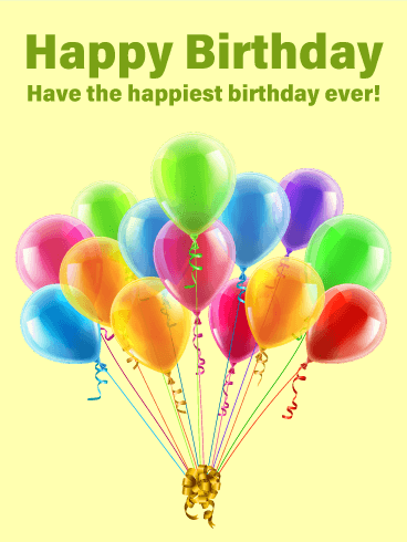 The Happiest Birthday Card