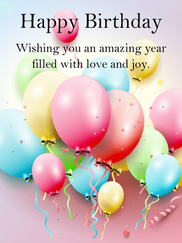 Have an Amazing Year! Happy Birthday Card