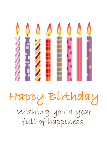 Birthday Colorful Candles Card