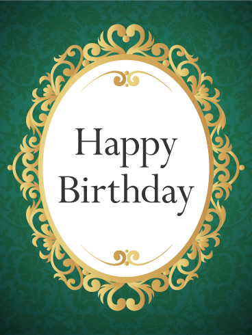 Gorgeous Golden Frame Birthday Card