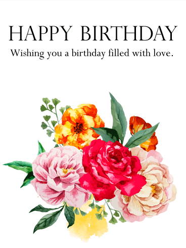 Lovely Birthday Flower Card