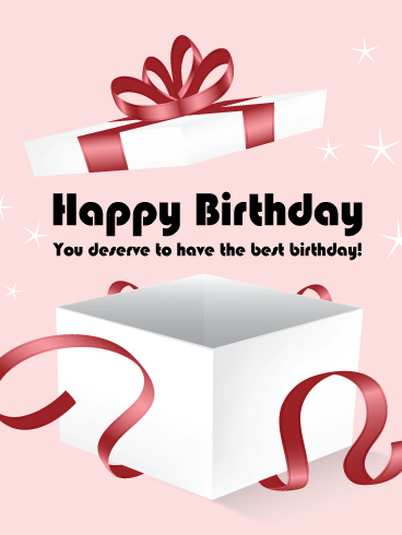 Surprise! Birthday Gift Box Card