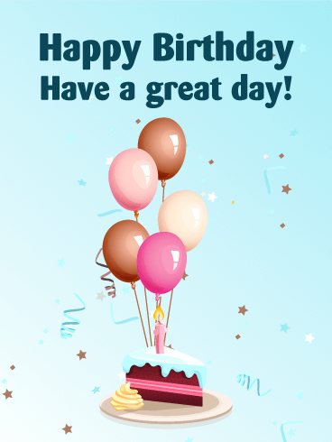 Birthday Balloons & Cake Card