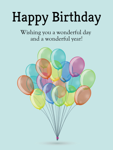Bundle of Birthday Balloons Card