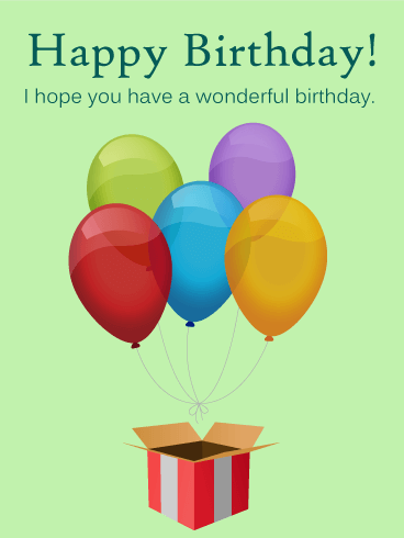 Surprise! Birthday Balloon Card