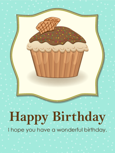 Happy Birthday - Chocolate Cupcake Birthday Card