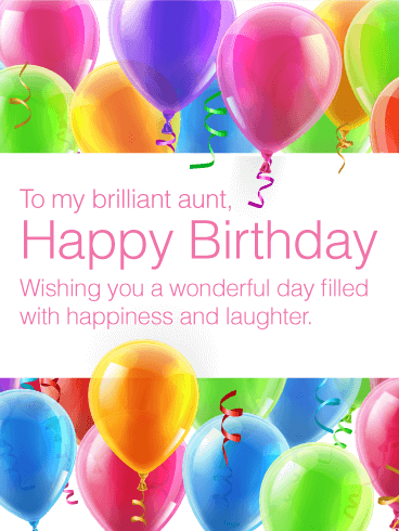 To my Brilliant Aunt - Happy Birthday Card