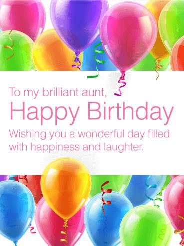 To My Brilliant Aunt Happy Birthday Card Birthday Greeting