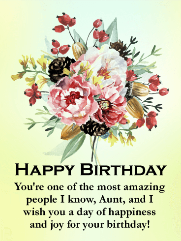 You are Amazing - Happy Birthday Card for Aunt