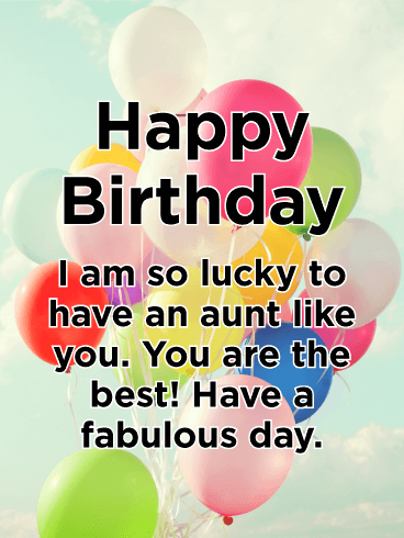 Have a Fabulous Day! Happy Birthday Card for Aunt