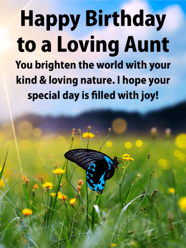 You Brighten the World! Happy Birthday Card for Aunt