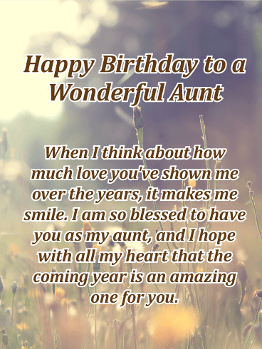 I am Blessed to Have You! Happy Birthday Card for Aunt