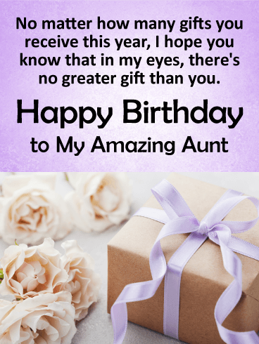 You are the Best Gift! Happy Birthday Card for Aunt