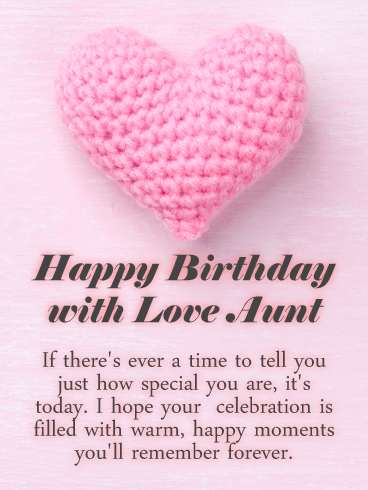 You Are Special Happy Birthday Card For Aunt Birthday Greeting