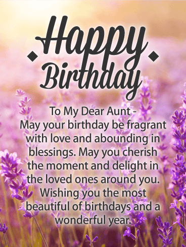 Happy Birthday Auntie Messages with Images - Birthday Wishes