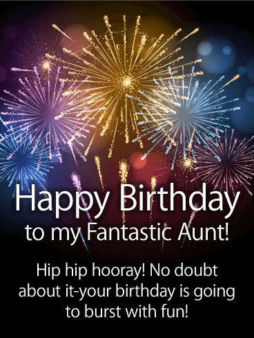 Three Cheers to You! Happy Birthday Card for Aunt