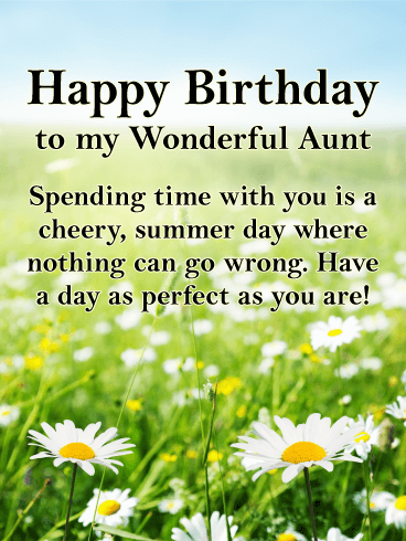 To my Perfect Aunt - Happy Birthday Card