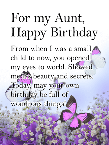 You Opened My Eyes Happy Birthday Card For Aunt Birthday