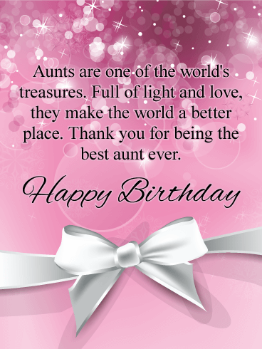 Aunts Are Treasures Happy Birthday Card Birthday Greeting